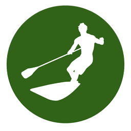 Surfing sport circle icon