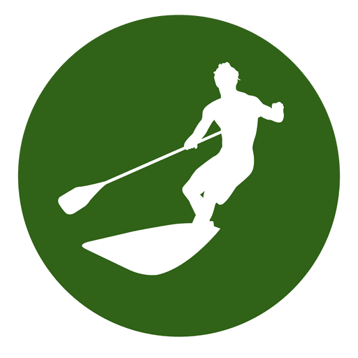 Surfing sport circle icon Transparent PNG