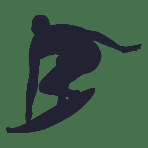 Silhueta de esporte de surf 2 Transparent PNG