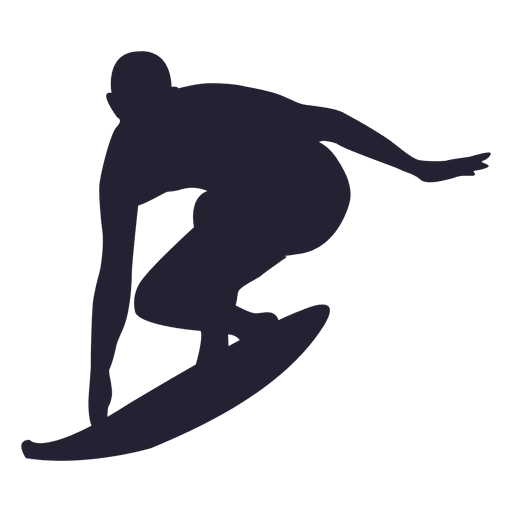 Surfing sport silhouette 2 Transparent PNG