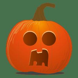 Surprise pumpkin emoticon