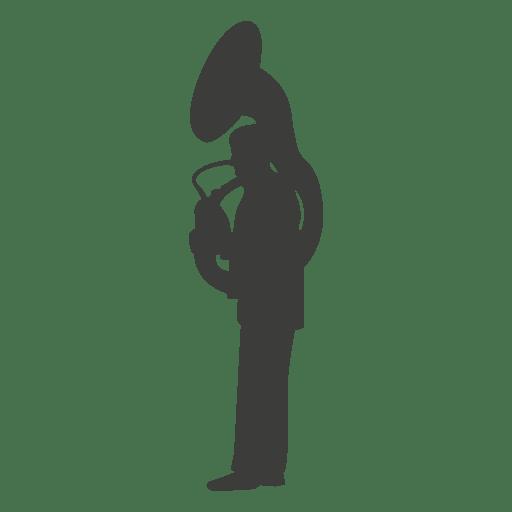 Silhueta de músico de suzzaphone Transparent PNG