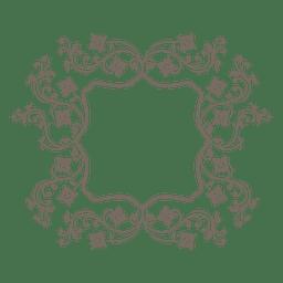 Swilring floral decoration frame