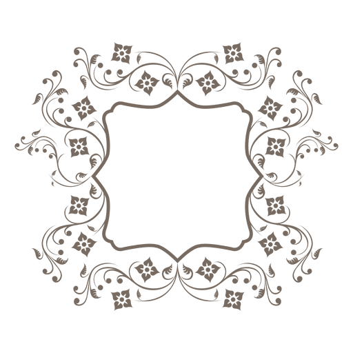 Swilring floral decoration frame Transparent PNG