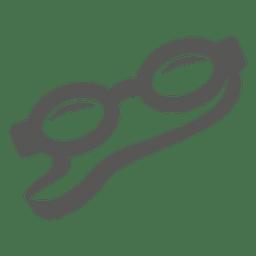 Ícone plana de googles de natação