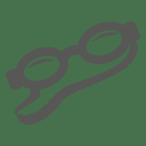 Ícone plano de googles de natação Transparent PNG