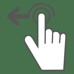 Deslize para a esquerda o ícone do gesto