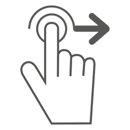 Swipe right gesture icon