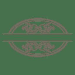 Wirbelnde Kurven verzierten Rahmen
