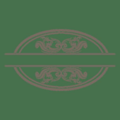Swirling curves ornate frame Transparent PNG