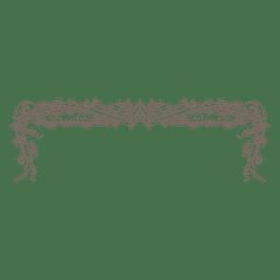 Marco decorativo floral arremolinado