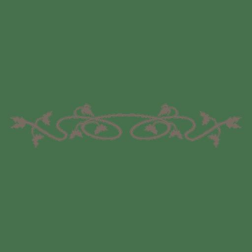 Decoración divisoria floral remolino