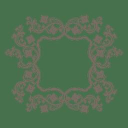 Marco elíptico floral arremolinado