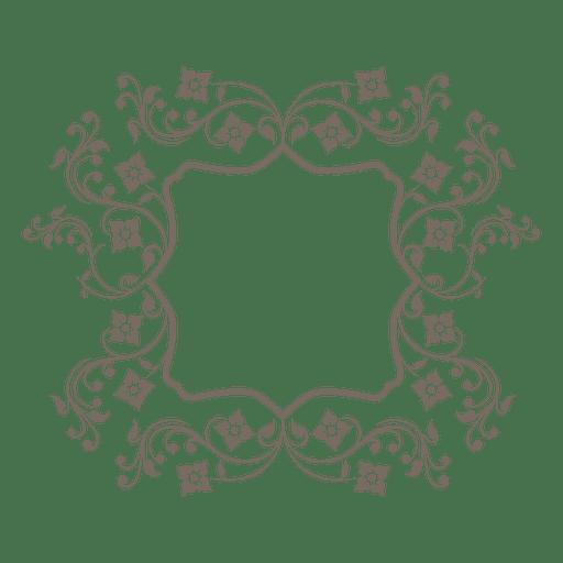Swirling floral elliptical frame Transparent PNG