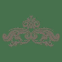 Roda floral canto ornamento