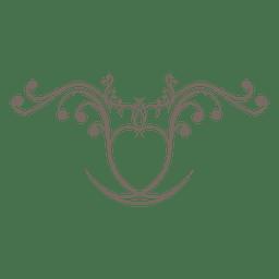 Líneas de remolinos adornos de decoración.