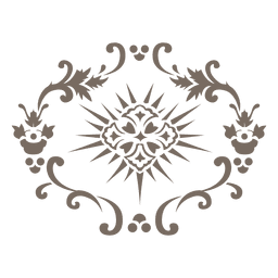 Rodando decoração de floreio arredondado