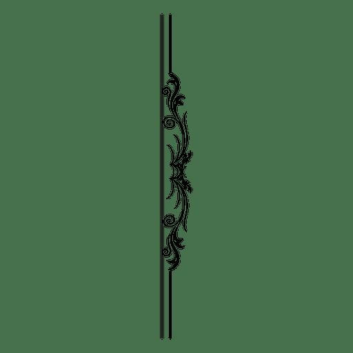 Divisor de línea de curvas swirly Transparent PNG