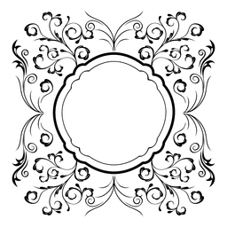 Swirly floral ornament frame 4