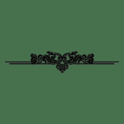 Swirly hinterlässt verzierten Teiler Transparent PNG