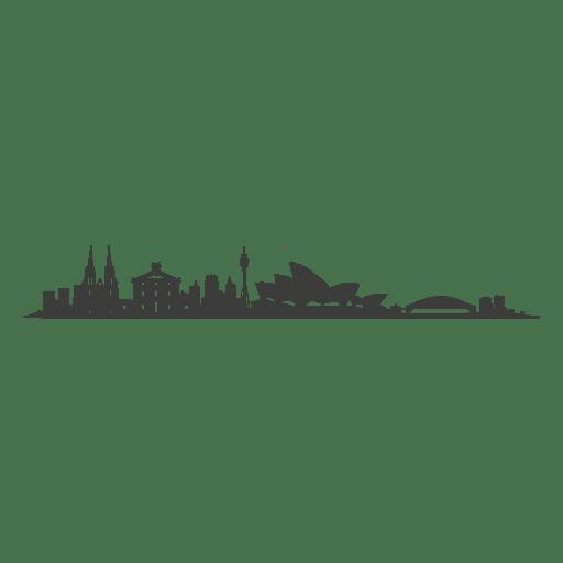 Silhueta do horizonte de Sydney Transparent PNG