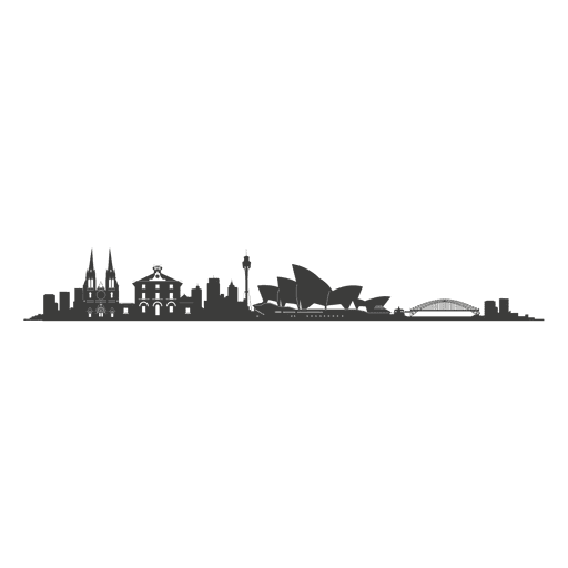 Silueta del horizonte de sydney Transparent PNG