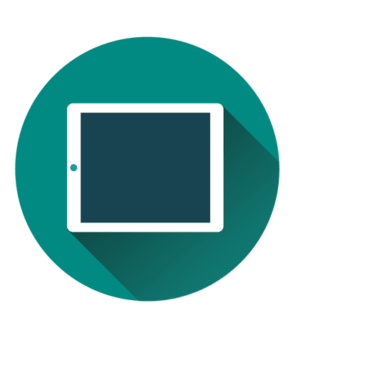 Tablet circle icon