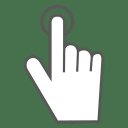 Toque no ícone do gesto