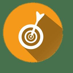 Icono de círculo de destino