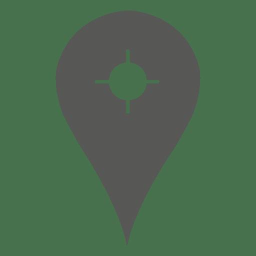 Segmentar dentro do ícone do marcador de localização Transparent PNG