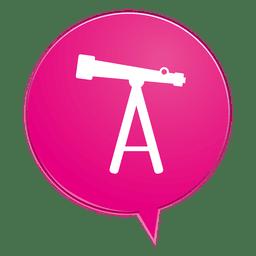 Telescope bubble icon