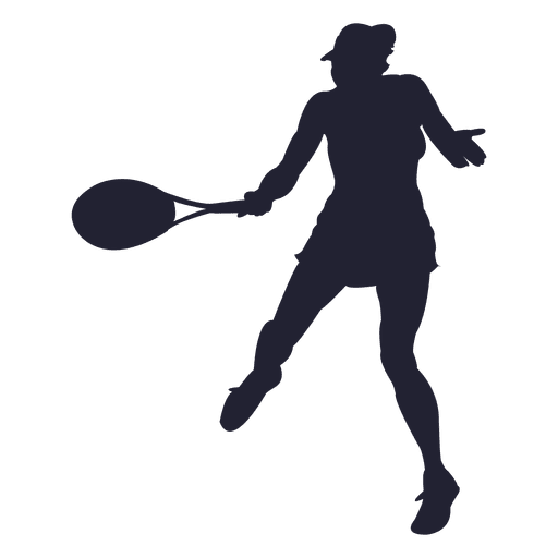 tennis player girl silhouette transparent png   svg vector tennis racquet clipart tennis racket clipart