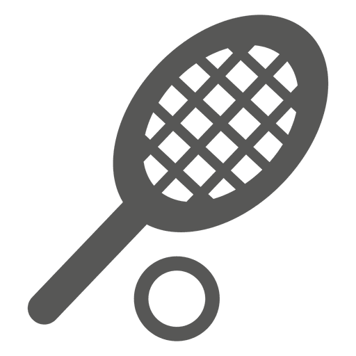 Tennis racket ball icon Transparent PNG