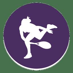 Icono de círculo de deporte de tenis