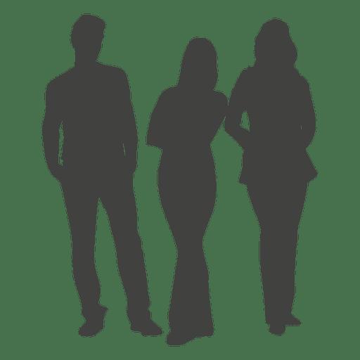 Silueta de grupo de tres personas