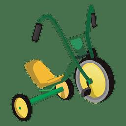 Desenhos animados de triciclo