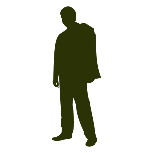 mypuzzledesign business man standing silhouette in - 512×512