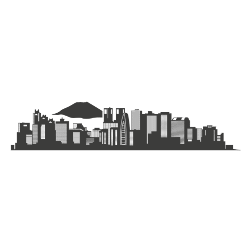 Tokio Skyline Silhouette