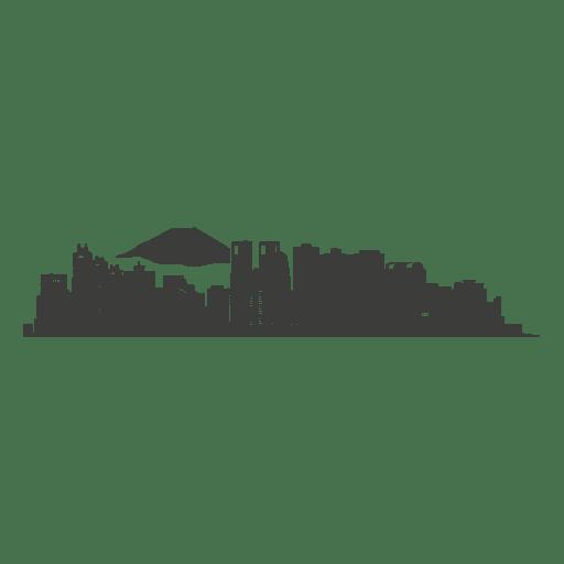 Tokyo skyline silhouette Transparent PNG