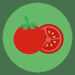 Icono de círculo de tomate