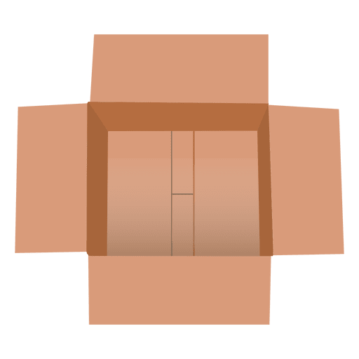 Top view cardboard package Transparent PNG