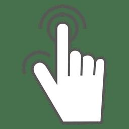 Gesto de la mano de la pantalla táctil