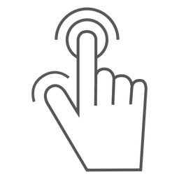 Touch screen hand gesture