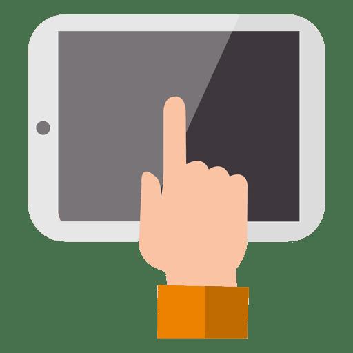 Tocar la pantalla de la tableta