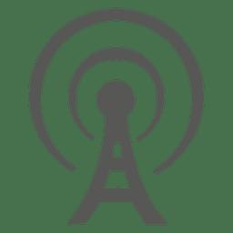 Antena Torre ícone plano