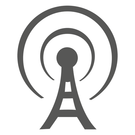 Antenna Tower flat icon - Transparent PNG & SVG vector