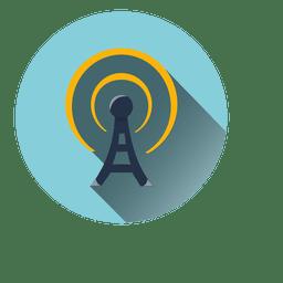 Ícone do círculo de radiação Torre