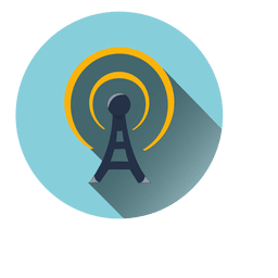 Tower radiation circle icon