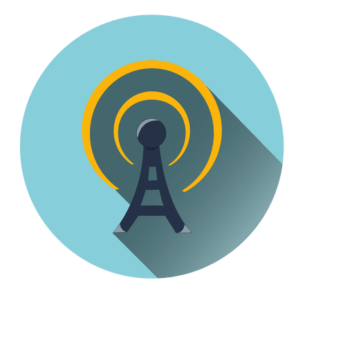 Tower radiation circle icon Transparent PNG