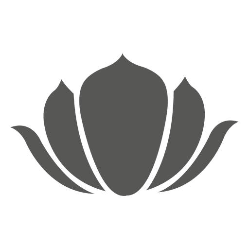 Traditional chinese flower silhouette